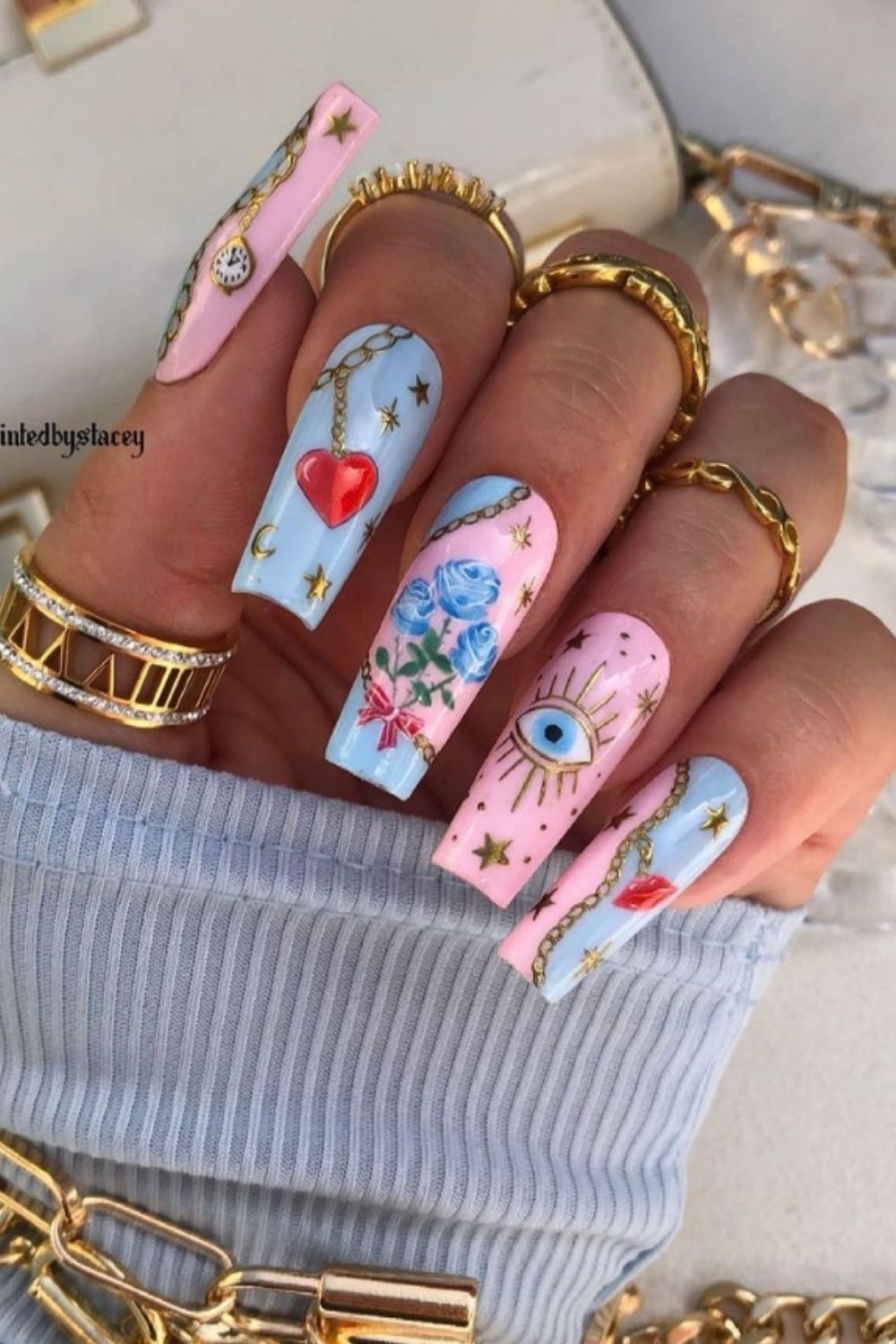 Acrylic Coffin Nails: 40 Summer Nail Ideas You Need To Copy!