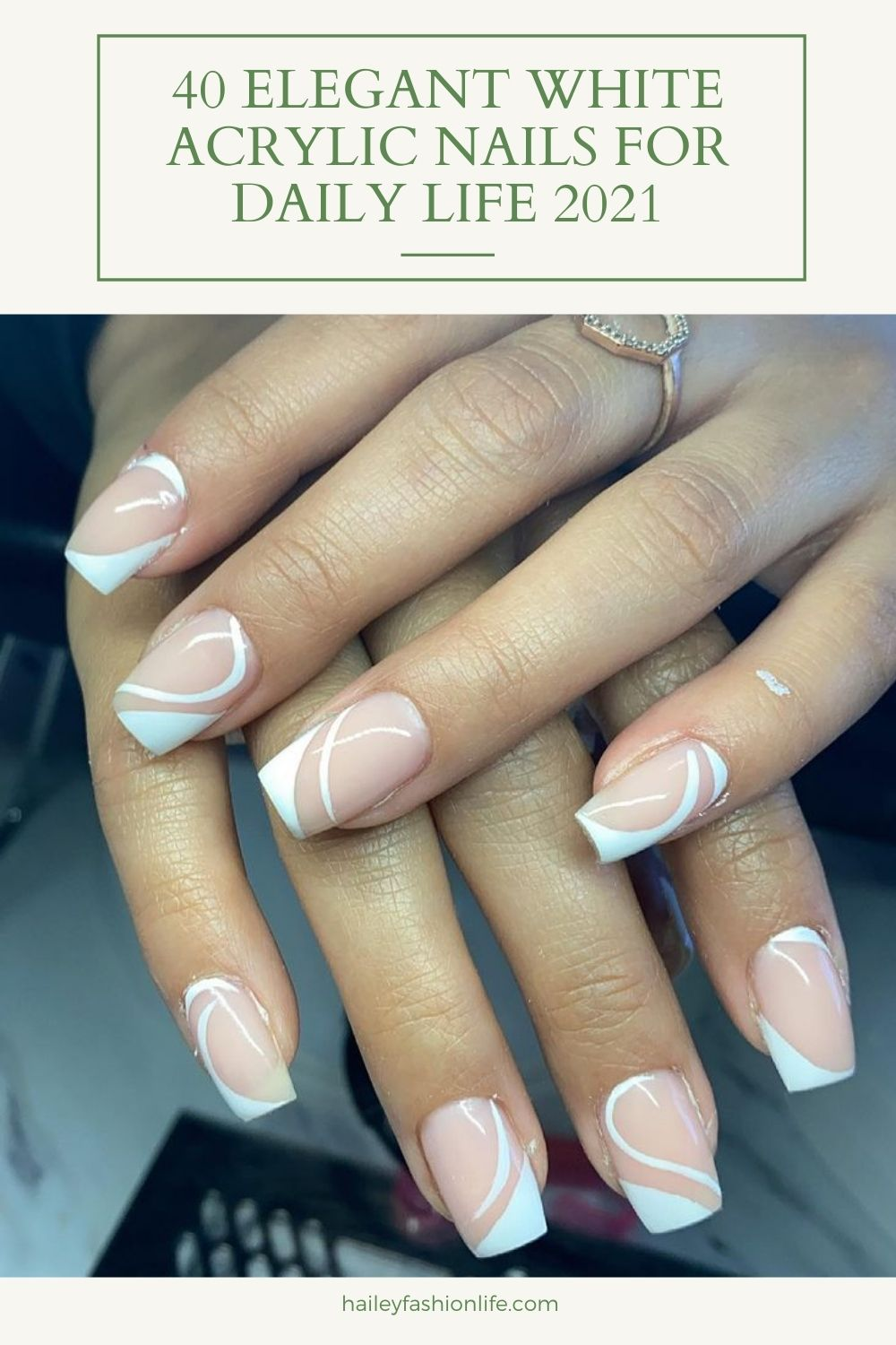 White Nails: 40 Elegant Nail Designs To Try In Summer! b