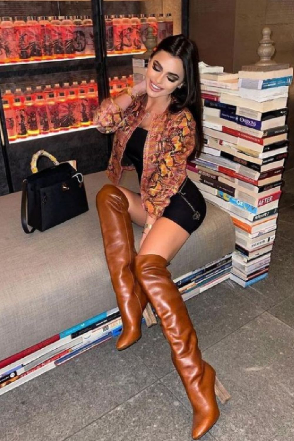 How to wear thigh high boots on a night out
